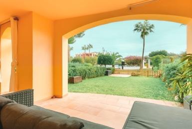 Terrasse und Garten in Santa Ponsa